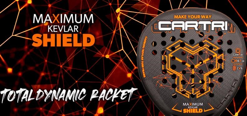 Cartri Maximum Kevlar Shield : la raquette totale !