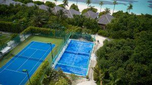 Terrain Padel mer aux Maldives - Hôtel Hurawalhi