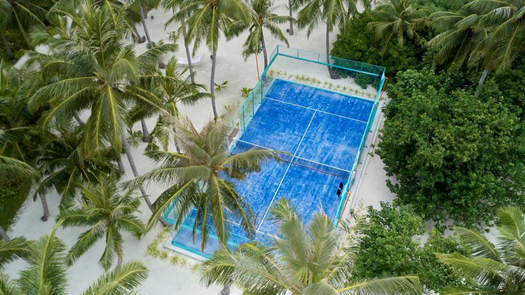 Terreno Padel azul do céu Maldives Hotel Kudadoo