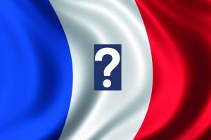 Znak zapytania z flagą Francji