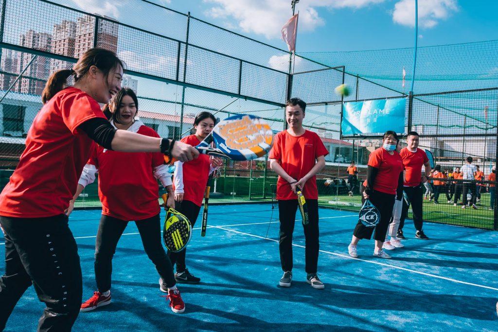 joueurs de padel chinois