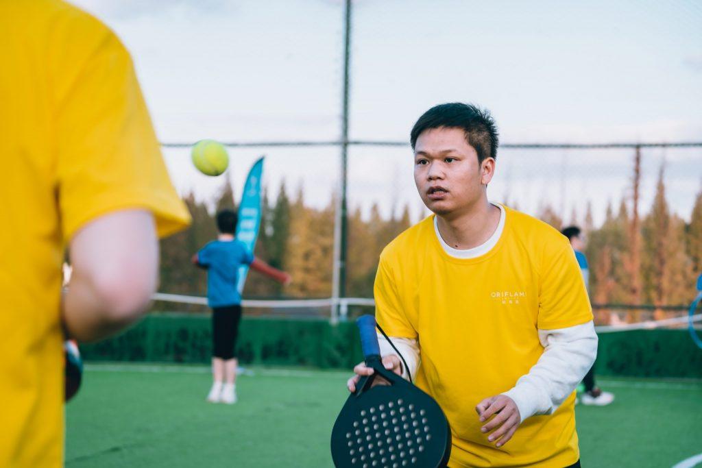 joueur de padel chinois