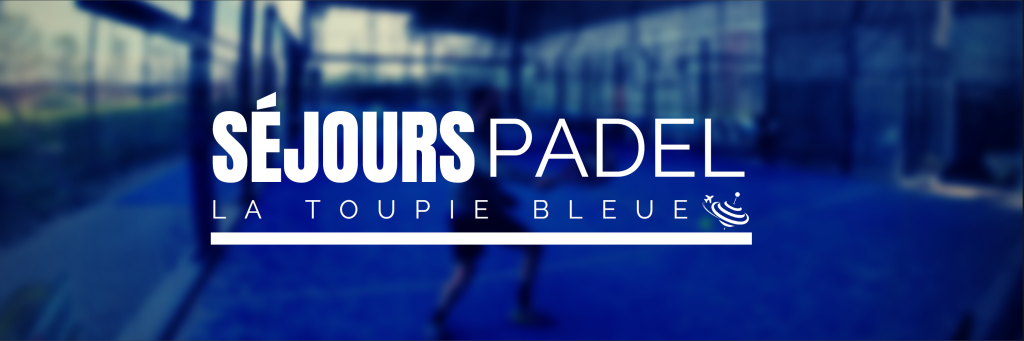 stay padel the blue spinning top