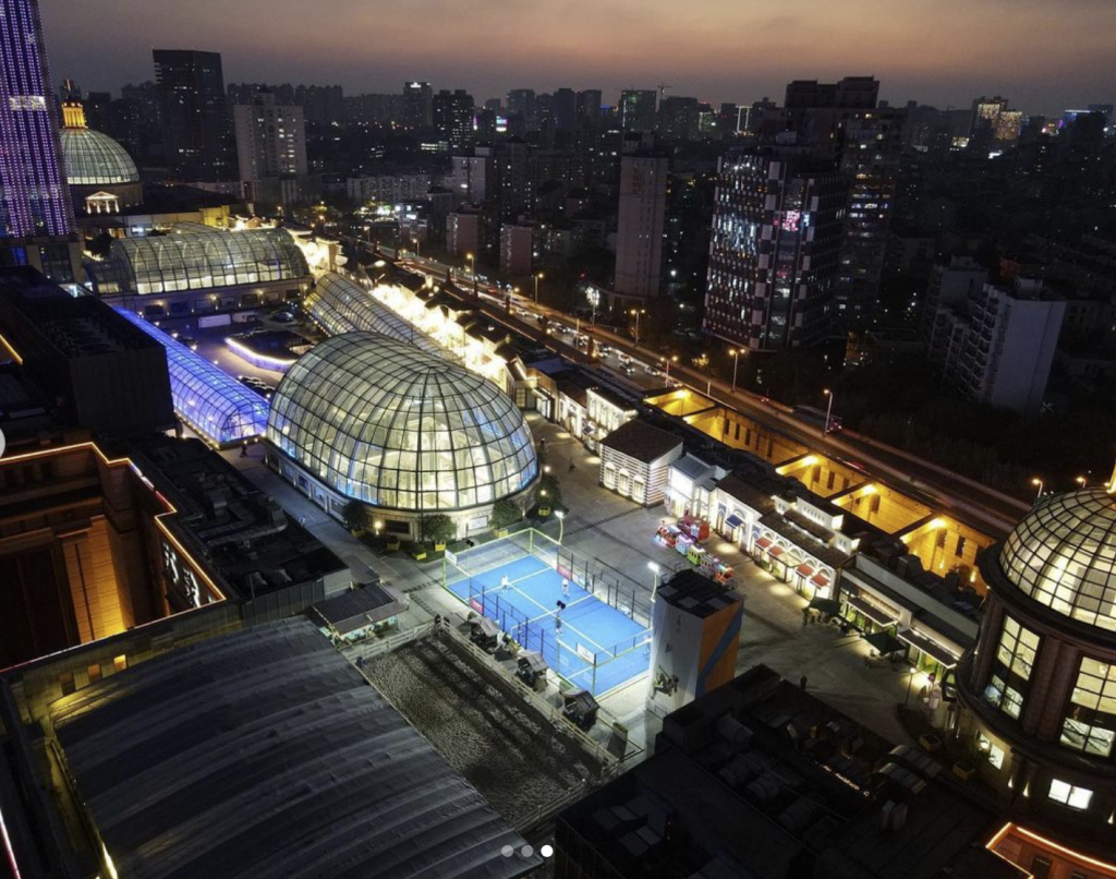 Shangai padel China land house building shopping mall