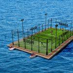 terrain de padel flottant
