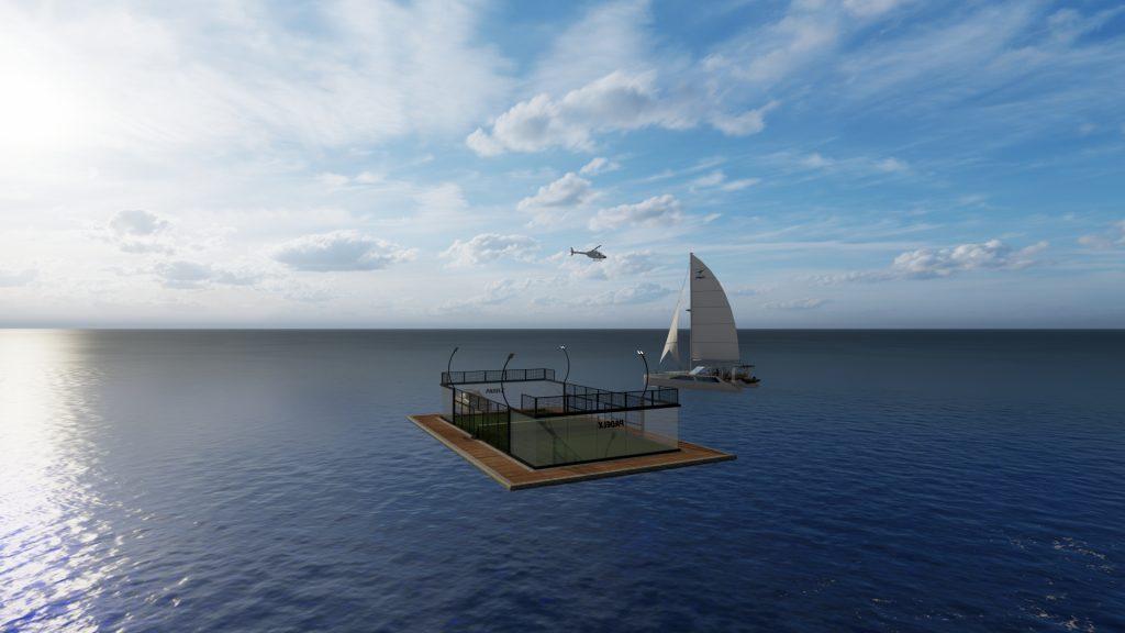 land of padel floating sea lake
