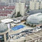terrain padel bleu centre commercial shangai chine
