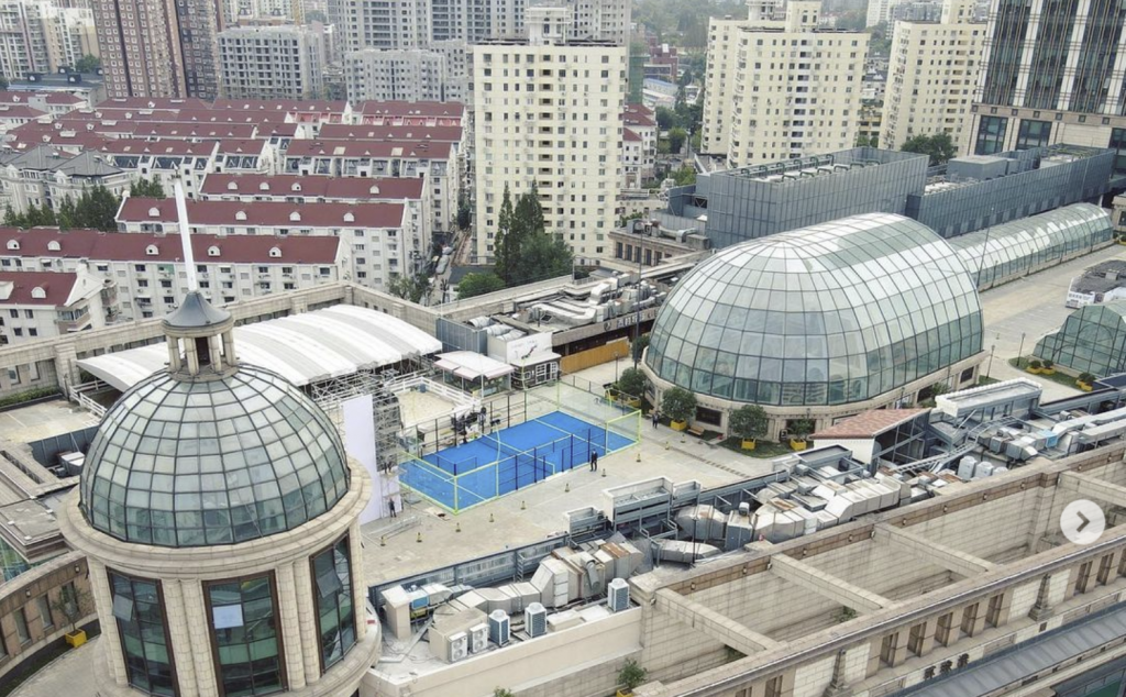 terreno padel blue mall shangai in cina