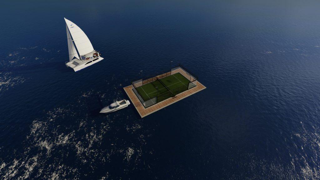 terrain padel floating sea lake