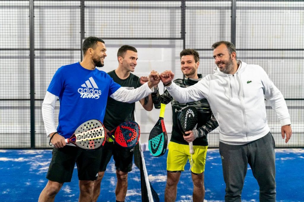 tsonga ascione bergeron lopes padel sourire all in padel