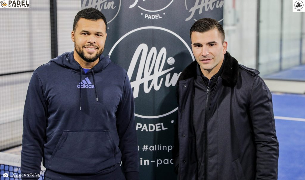 tsonga va all in padel
