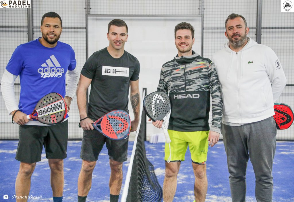 Tsonga Lopes Bergeron Ascione 4 Spieler alle in padel Ausstellung