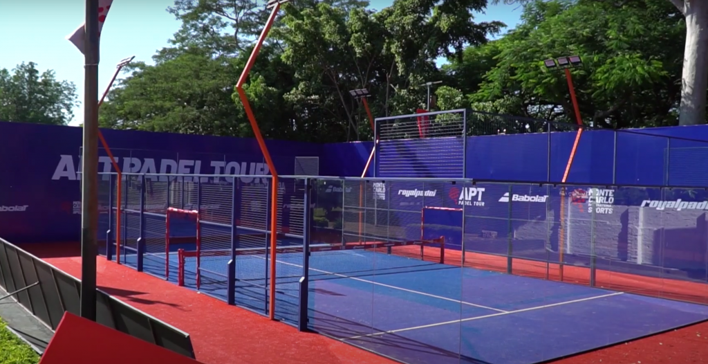 APT Padel Tour Quinta Sports Club - Paraguay 2021 cancha central