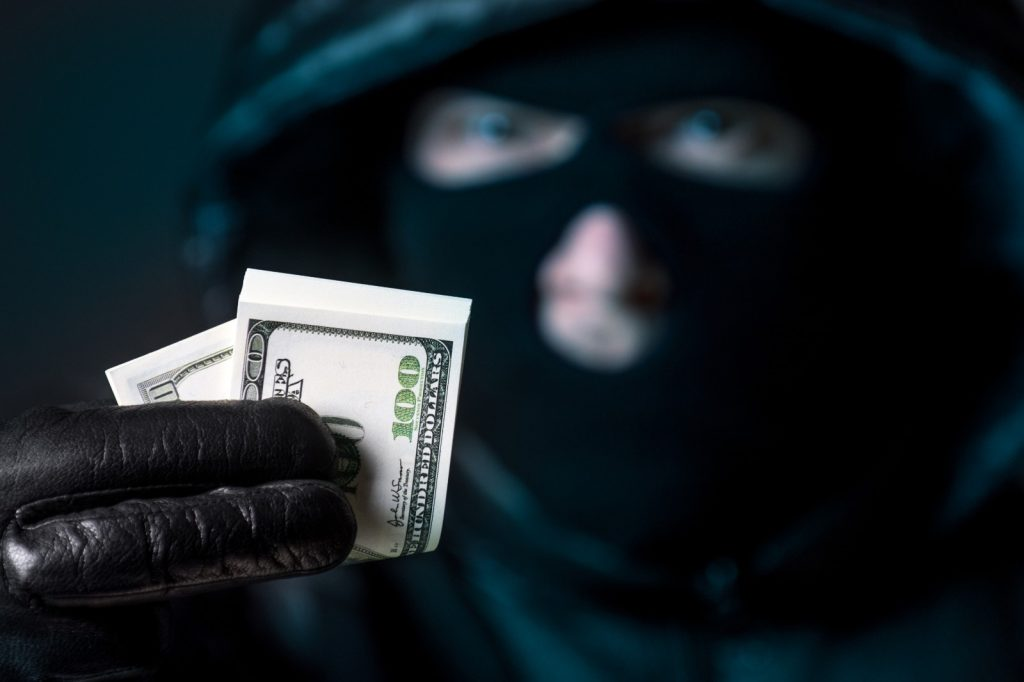 Balaclava money scam