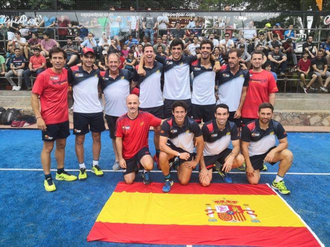 Spaniens hold Padel