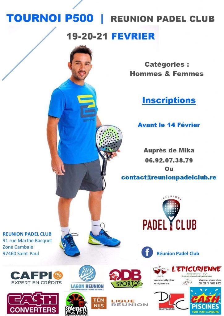 Réunion Padel Club tournois de padel