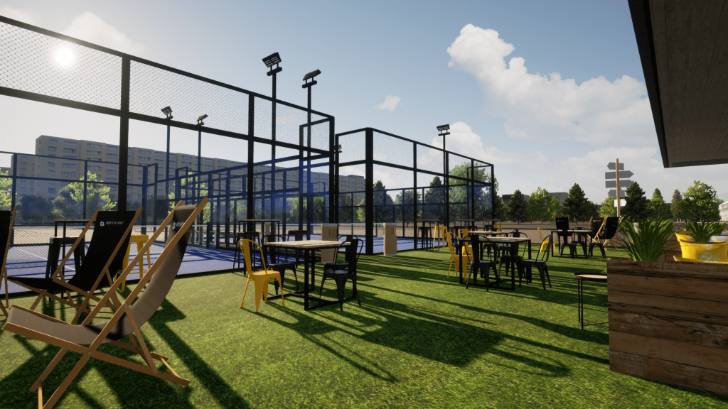 Un club de padel Decathlon en Belgique