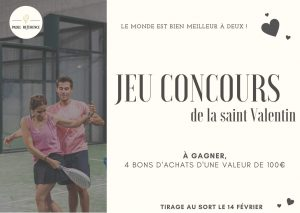 jeu concours paadel reference