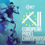 logo bleu 12e championnats d'Europe de Padel à Marbella