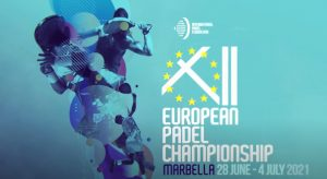 12th European Championships blue logo Padel in Marbella