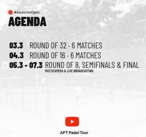 APT Padel Tour programme streaming asuncion open 2021