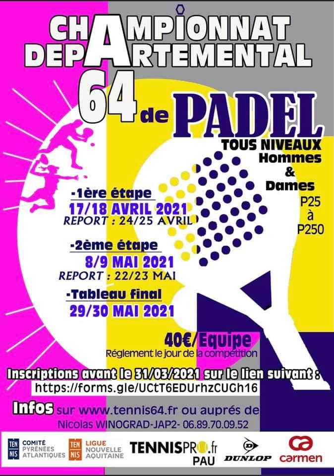 Championnat départemental 64 de padel 2021