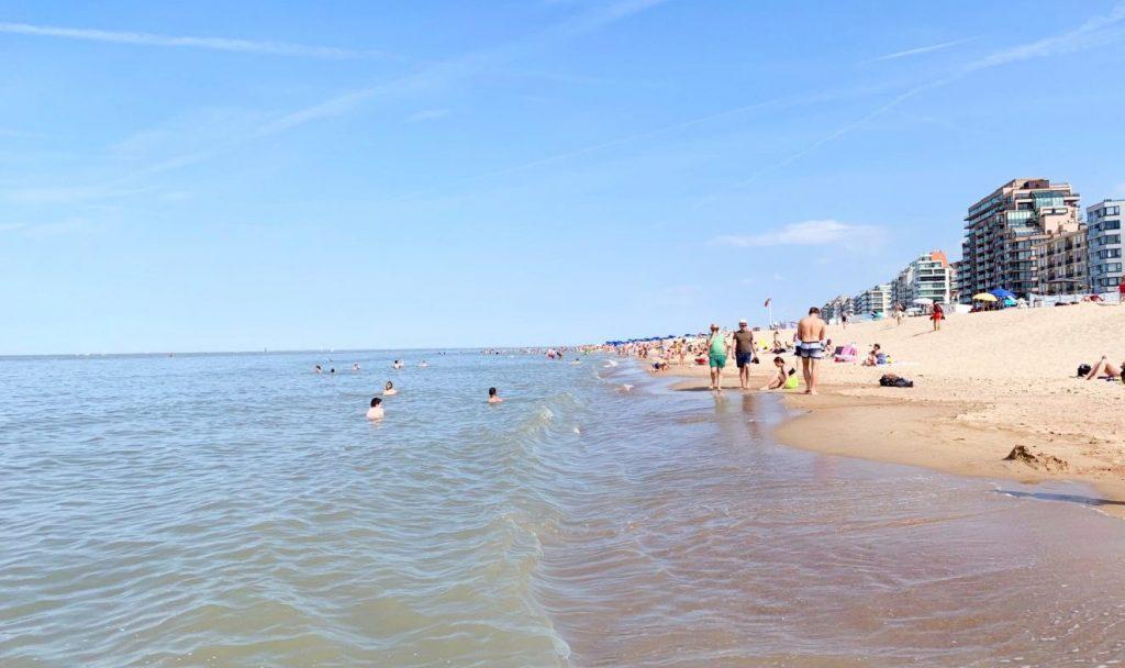 Praia Knokke na Bélgica
