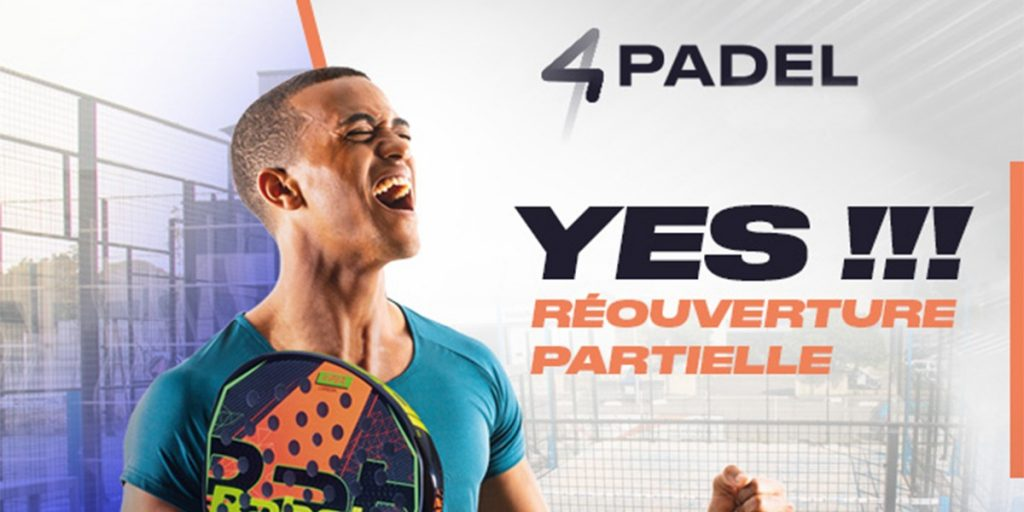4PADEL Marville is partially reopening!