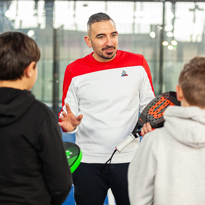 Simon boissé padel shot teaching