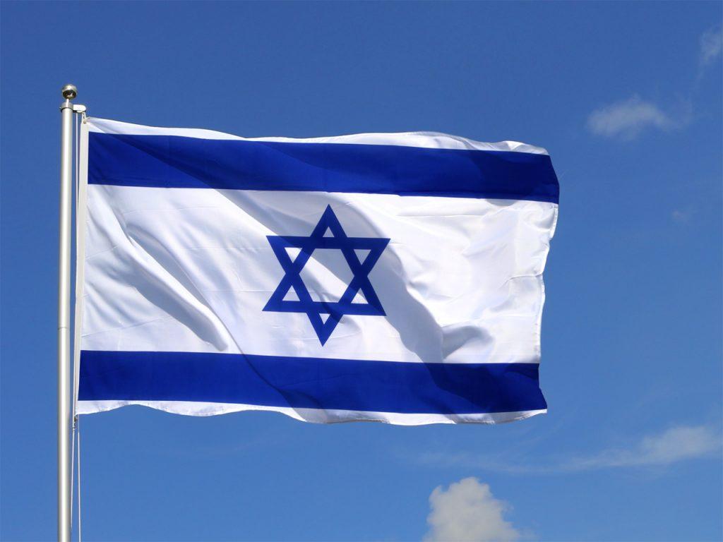国旗以色列天空