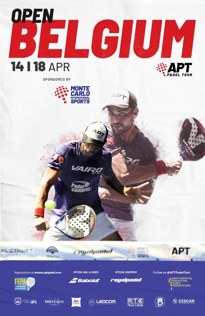 Belgian Open juliste APT Padel soveltuu