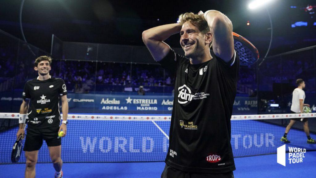 Alex Ruiz szczęśliwy Padel Półfinały Madrid Open
