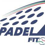 Logo Blanc et bleu padel federation italie