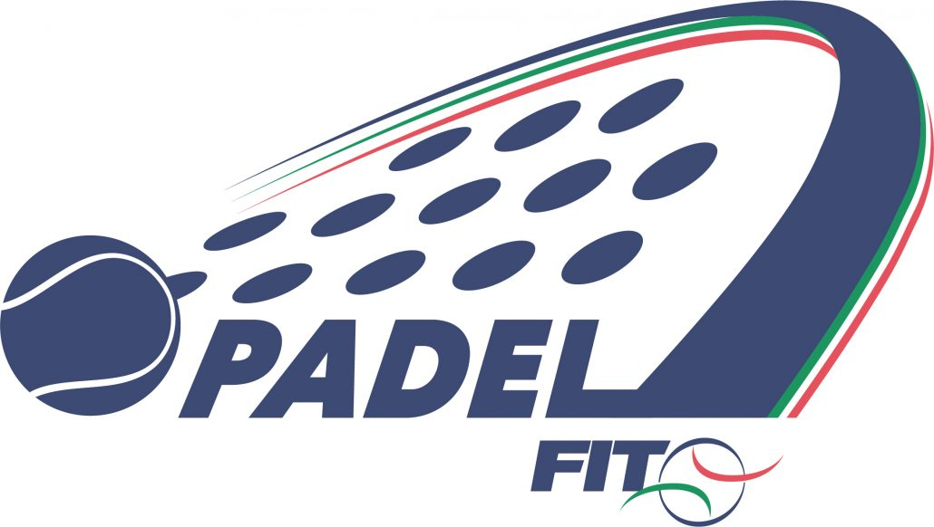 White and blue logo padel italy federation