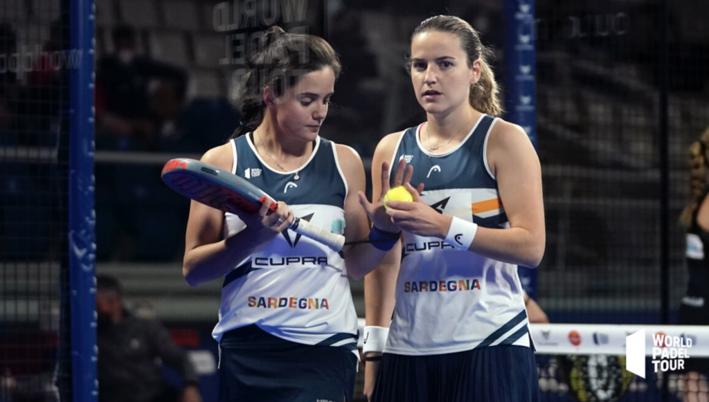 Paula Josemaria och Ari Sanchez WPT Padel Alicante final
