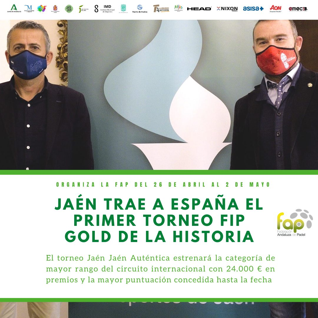 The 1st FIP ​​Gold tournament in Jaén from April 26 to May 02, 2021