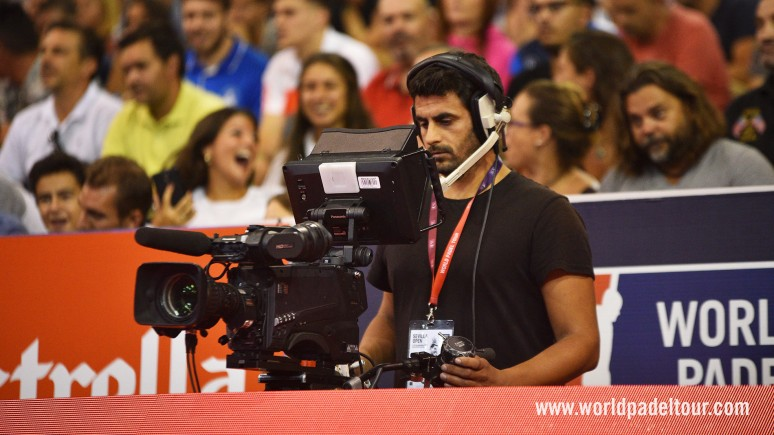 gol tv world padel tour camera television