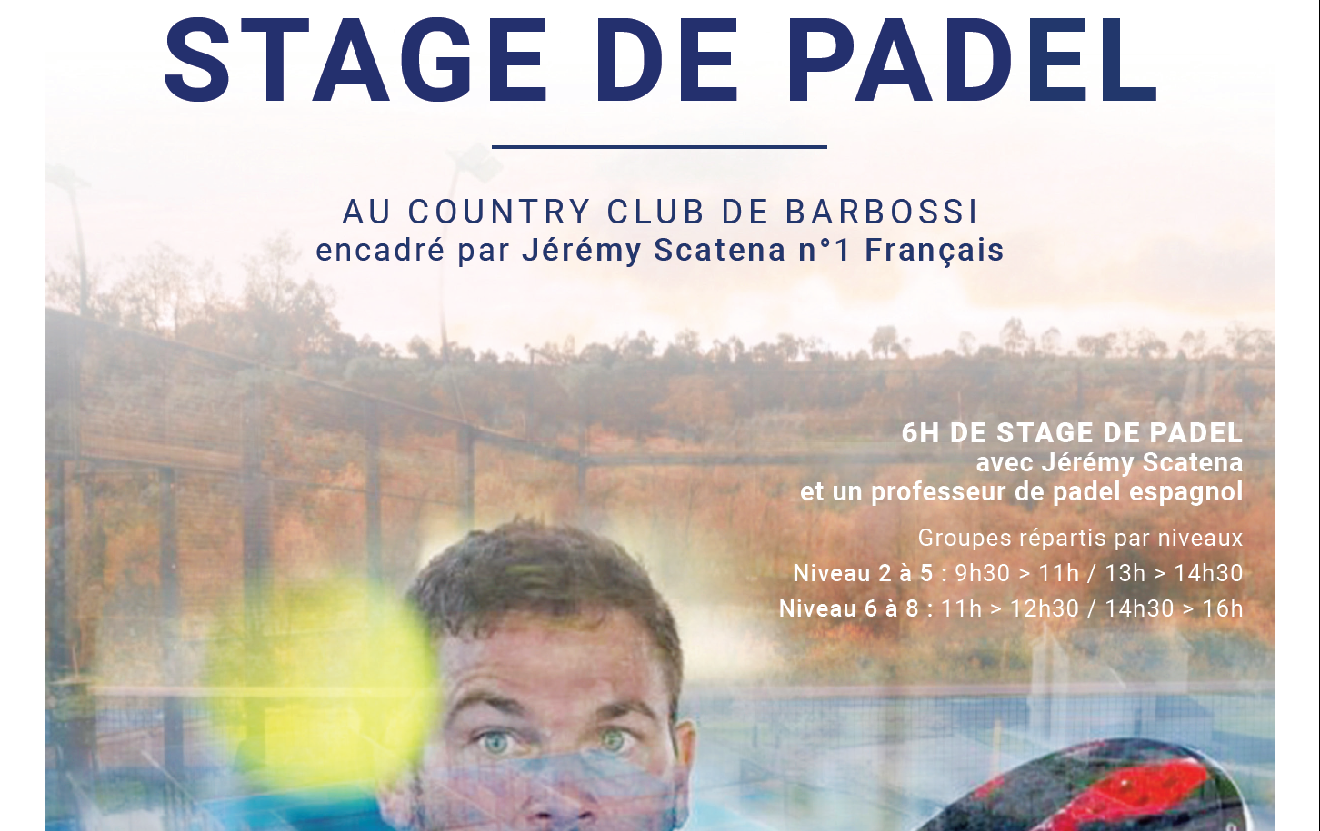 country club barbossi padel stage scatena