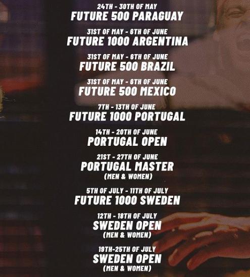Apt Padel Tour nouveau calendrier 10 tournois mai-juillet 2021