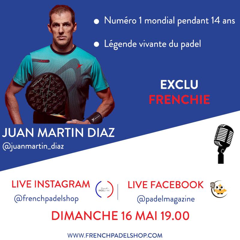 Juan Martin Diaz french padel shop