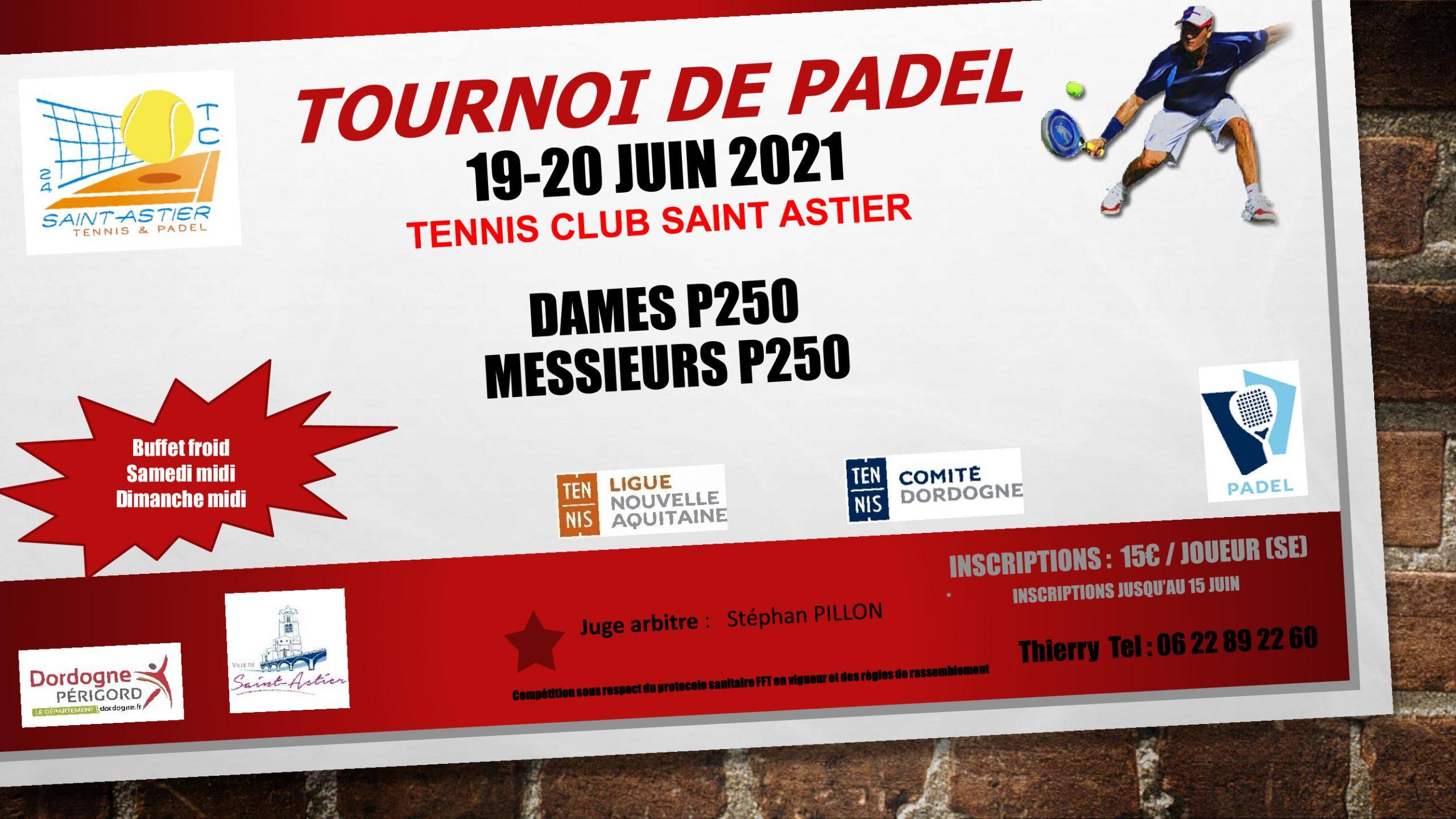 astier tournoi padel juin 2021