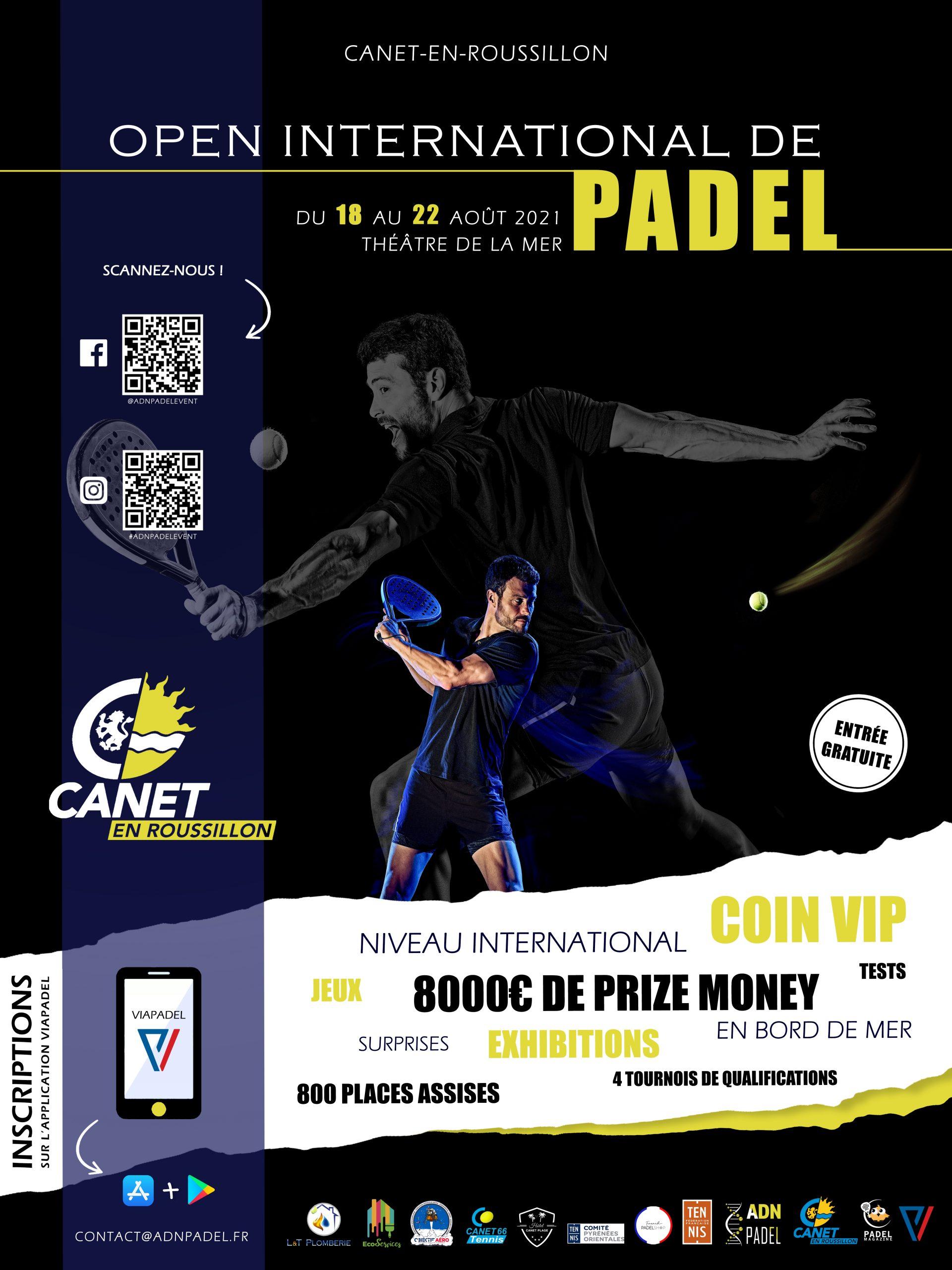 canet padel tournoi international