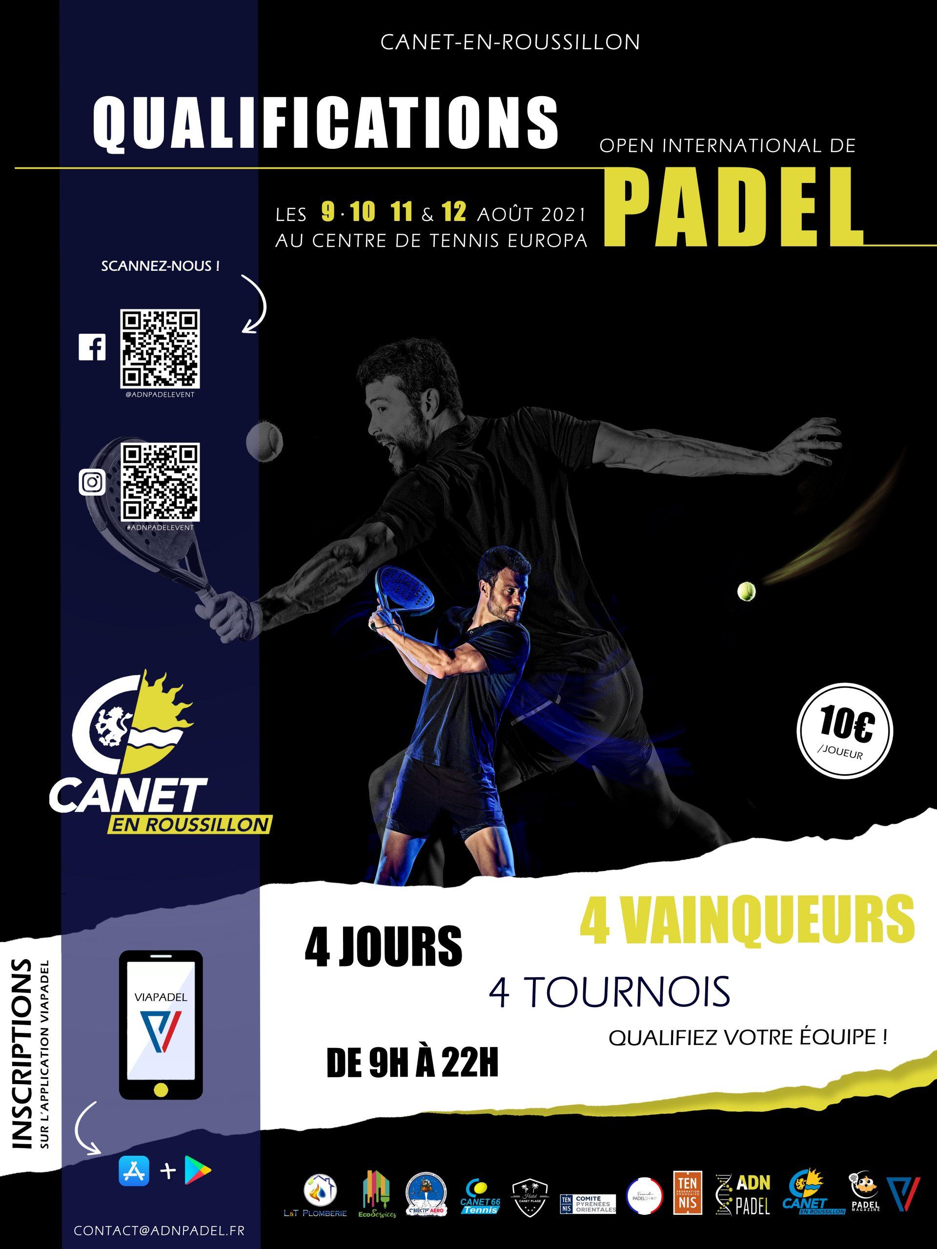 canet qualifs padel tournoi international