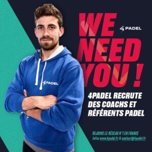 4PADEL recrute We Need You Jorge de Benito