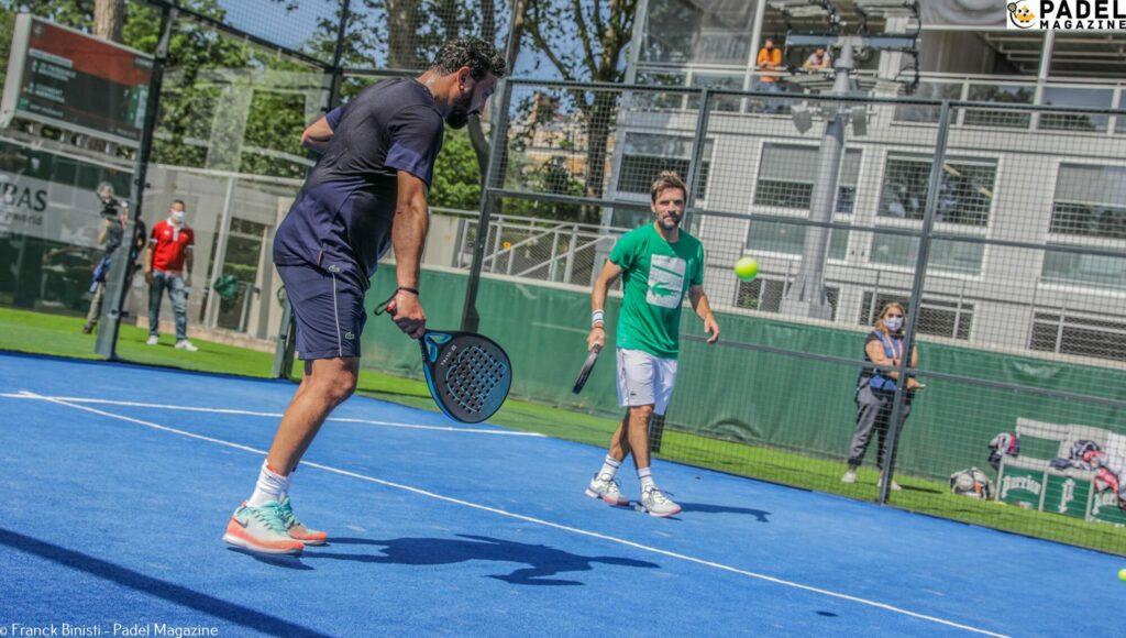 Arnaud Clement Cyril Hanouna Roland Garros padel