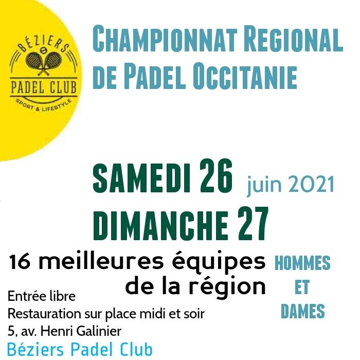 Championnats régions Padel Occitanie 2021