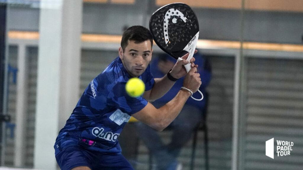 Cristian German Gutierrez volée de revers wpt Vigo