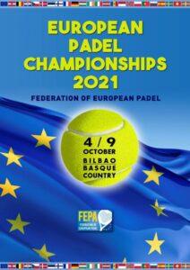 FEPA affiche championnats d'Europe Bilbao Septembre 2021