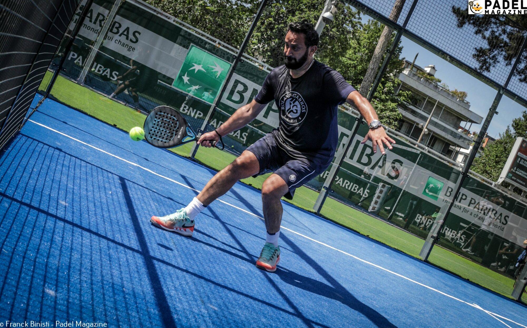 Hanouna padel Roland Garros