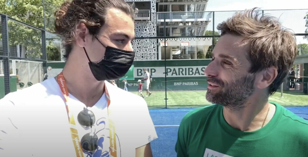 Entrevista com Arnaud clément Roland Garros padel 2021